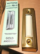 NuTone NEW Push Button DOOR BELL PB-11 Gold BUY FROM ME!