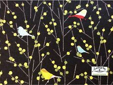 RPA75 Whimsical Graphic Birds Australian Summer Retro Cotton Quilting Fabric