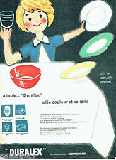 PUBLICITE ADVERTISING 076  1959  les assiettes Duralex Saint Gobain