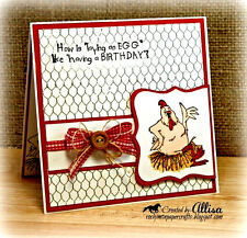 Chicken Soup Chicken (U get Photo #2)L@@K@examples Art Impressions Rubber Stamps