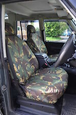 Land Rover Discovery Series 2 Front Green DPM Camouflage Tailored Seat Covers