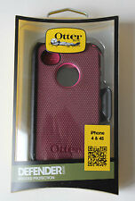 NEW OtterBox Deep Pink/Plum Defender Case/Holster for Apple iPhone 4 4S