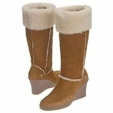 UGG® AUSTRALIA SANDRA 5449 CHESTNUT SHEEPSKIN KNEE HIGH BOOTS UK 7.5 40 RRP £350