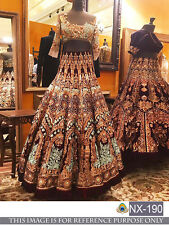 Designer Party Wear SarI Bridal Bollywood Indian Wedding Party Lehenga Choli Set