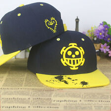 Anime One Piece Trafalgar Law Logo cotton baseball cap cosplay Sun hat Hip-hop