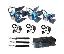 Fresnel Tungsten Spot light 300+650W+1000W+case+cushion stand+3dimmer studio Kit