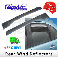 CLIMAIR Car Wind Deflectors AUDI A4 4-Door Saloon B6 2000-2004 REAR Pair NEW