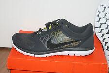 Nike Flex Herren Running Lauf Schuhe Grau Schwarz Gelb Größe 45, UK 10 Neu