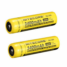 2pcs 18650 3400mah Nitecore NL189 3.7V NCR18650B Protected Rechargeable Battery