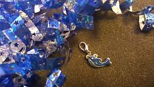 Blue Whale Silver Dangle Charm for Living Lockets or Bracelets - US Seller