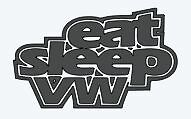 """eat sleep VW"" vinyl decal sticker die cut"