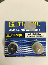 New 2X LR44 AG13  357 303 A76 SR44 L1154 357A Cell Button Battery exp 2018 in US