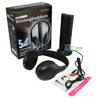 5 in 1 Wireless Headphone Earphone Stereo Black for FM Radio MP3 / MP4 PC TV CD