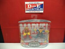 MARVEL - SUPER HERO SQUAD - PYRO & ICEMAN - NEW!