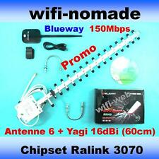 Carte Clé USB  Wifi Blueway 2000mW antenne 6+ Yagi 16dBi