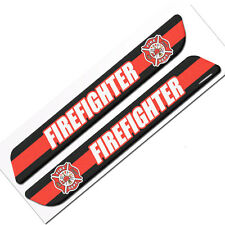 Pair of Premium Firefighter Custom Gloss Decals for Car Truck SUV Window Sticker