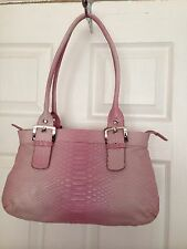 Pink Nine West Bag With Matching Wallet And Key Ring