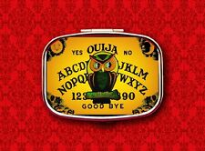OUIJA BOARD OWL PSYCHIC GAME VINTAGE HALLOWEEN 4 STASH BOX METAL PILL MINT CASE