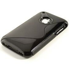 KWMOBILE tpu silicone pour Apple iPhone 3g 3gs s-LINE Noir silicone housse