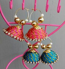 Silk thread Earrings/Fancy Unique thread Jhumka Stud for Traditional Party wear