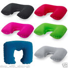 PACK OF 2 INFLATABLE TRAVEL NECK PILLOWS - FLIGHT REST SUPPORT CUSHION FOR HEAD