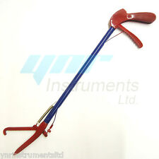 "YNR 25"" Snake Catcher Stick Lizards Tongs Rattlesnake Catcher Grabber RED & BLUE"