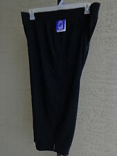 NWT WOMENS JUST MY SIZE PULL ON FRENCH TERRY JERSEY KNIT CAPRIS 2X BLACK