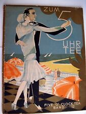 Beautiful Cover on 1920's Germany Sheet Music w/ Couple Dancing by Sea Shore *