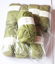 £76 ROWAN MERINO WOOL KID MOHAIR YARN COCOON BULKY LOT 8 X 100G 816 KIWI GREEN