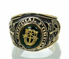 Made in USA Men's US Special Forces Gold Plated Military Ring Size-11 '
