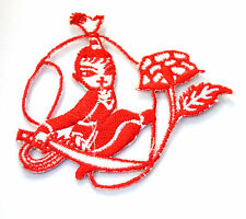 MARTIAL ARTS ROPE BLADE R Embroidered Iron Sew On Cloth Patch Badge  APPLIQUE