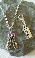 Ballet Shoes Necklace & Free Dance Clip on Charm.
