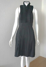 BCBG MAXAZRIA BLACK PLEATED NECK HALTER  DRESS size 12P NWT $220-RackU/39