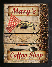Personalized Primitive Coffee Shop Country Kitchen Diner Cafe Wall Art Sign