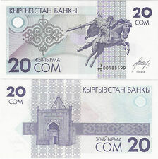 Kyrgyzstan ND (1993) - 20 som - Pick 6 UNC