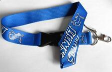 Téléphone mobile / carte d'identité cordon bleu Detroit Lions logo cordon bracelet