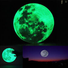 30cm 3D Large Moon Fluorescent Wall Sticker Removable Glow In The Dark Sticker