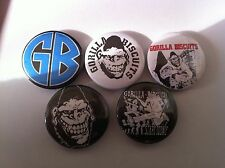 5 Gorilla Biscuits Pin Button badges 25mm Hardcore Black Flag Bad Brains GM2