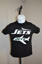 New-Minor Flaw- New York Jets NFL Youth S Small (6/8) Black Shirt