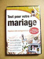 Logiciel Tout pour votre mariage organisez votre mariage de A à Z sur PC /U2