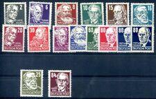 DDR 1952 327-341 ** POSTFRISCH SATZ KÖPFE II 400€(Z2583