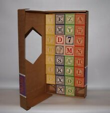 "Uncle Goose NON TOXIC! Genuine Norwegian Wooden ABC Blocks Made in USA""  NRFB 2+"