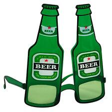 #GREEN BOTTLE GLASSES OKTOBERFEST GERMAN BEER FESTIVAL FANCY DRESS FUN ACCESSORY