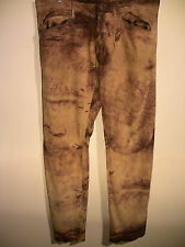 "Designer ROBERTO ""Just"" CAVALLI Men's Brown Suede Leather Trousers Waist 36"""