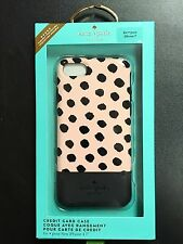 KATE SPADE iPhone 7 - CREDIT CARD CASE Musical Dot (Black/Blush) 100% AUTHENTIC