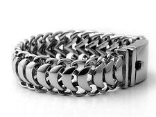 19mm Biker Silver Punk Scorpion Gothic Rocker Stainless Steel Bracelet 9 inches
