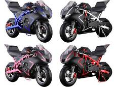 MotoTec Cali 40cc Gas Pocket Bike Ride on Motorcycle Age12+ in 4 Differt Colors