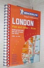 LONDON Plan index Atlas Underground map One way streets Guida Michelin Londra
