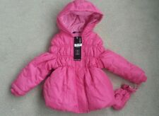 BNWT Girls Pink Puffy Coat by George Age 2-3 years new