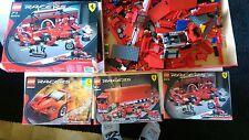 Lego Racers Ferrari Enzo 8652 + Truck 8654 + F1 Ferrari 8375